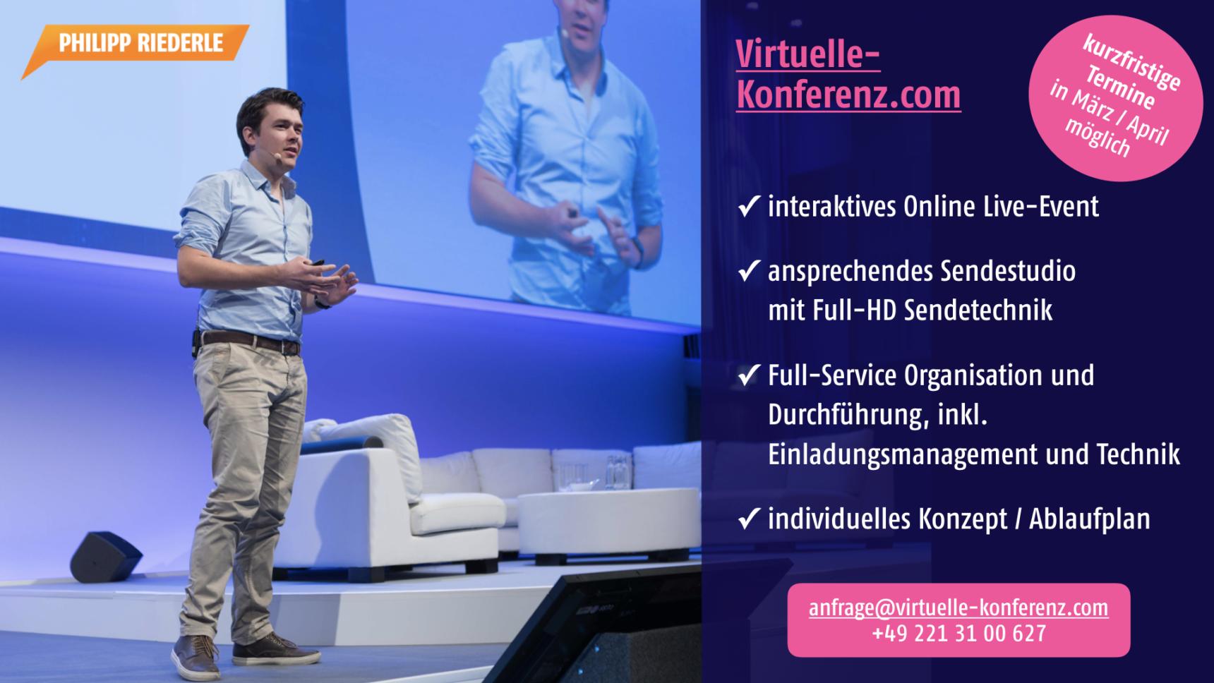 Virtuelle Konferenz mit Philipp Riederle